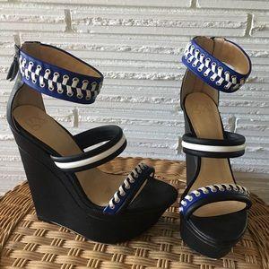 GX by Gwen Stefani Black Platform Wedge Heels